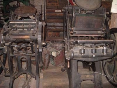 Printing Presses Used by the Enterprise image. Click for full size.
