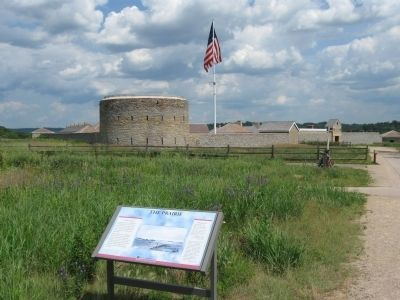 The Prairie Marker and Fort Snelling image. Click for full size.
