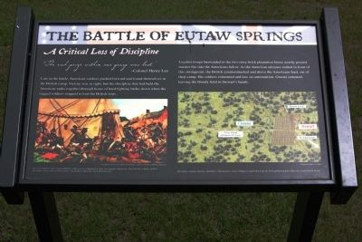 Battle of Eutaw Springs Marker image. Click for full size.