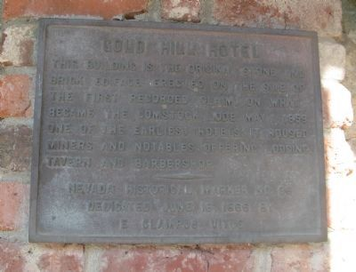 Gold Hill Hotel - Main Marker image. Click for full size.