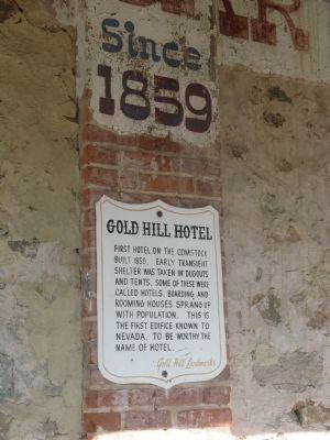 Gold Hill Hotel - Second Marker Photo, Click for full size