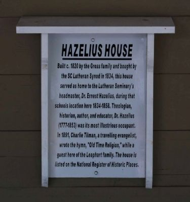 Hazelius House Marker image. Click for full size.
