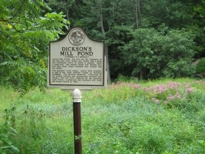 Dickson's Mill Pond Marker image. Click for full size.