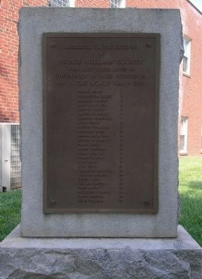 Prince William County World War I Memorial image. Click for full size.