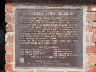 E Clampus Vitus Building Marker image. Click for full size.