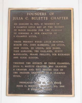 Founders of Julia C. Bulette Chapter image. Click for full size.