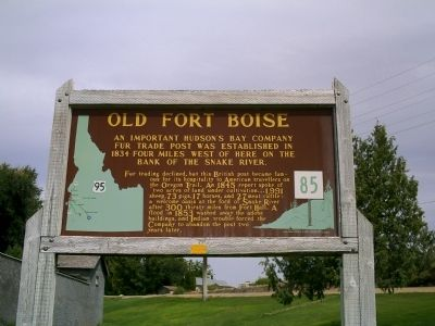 Old Fort Boise Marker image. Click for full size.