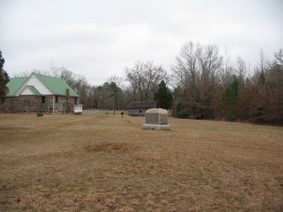 Monument and the Modern Shiloh Church image. Click for full size.
