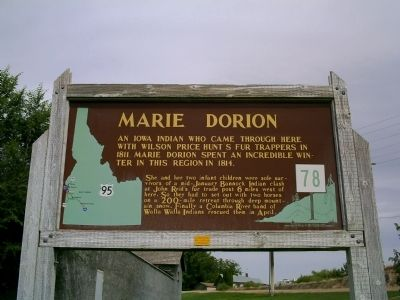 Marie Dorion Marker image. Click for full size.
