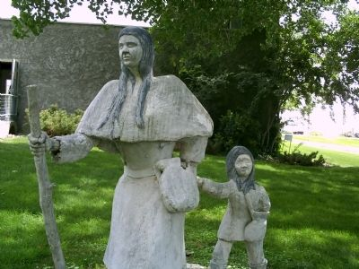 Nearby Statue of Marie Dorion image. Click for full size.
