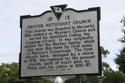 Grover Methodist Church Marker image. Click for full size.