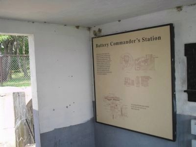 Marker in Fort Mott image. Click for full size.