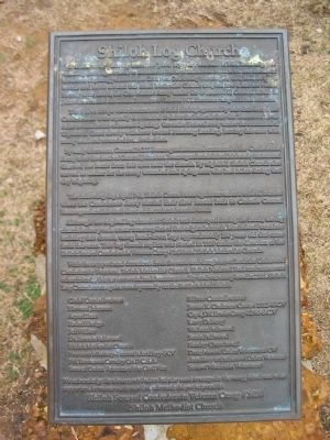 Shiloh Log Church Marker Photo, Click for full size