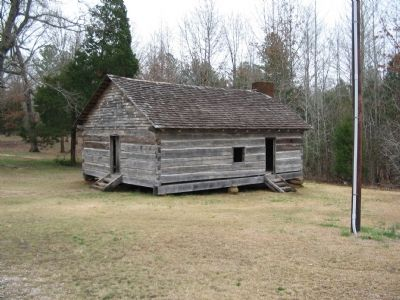 Shiloh Log Church Reconstruction Photo, Click for full size