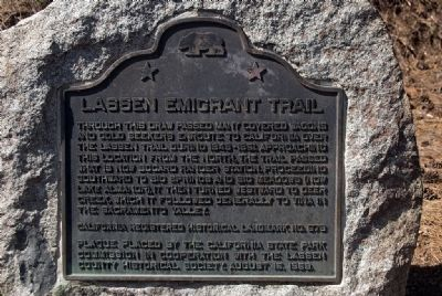 Lassen Emigrant Trail Marker image. Click for full size.