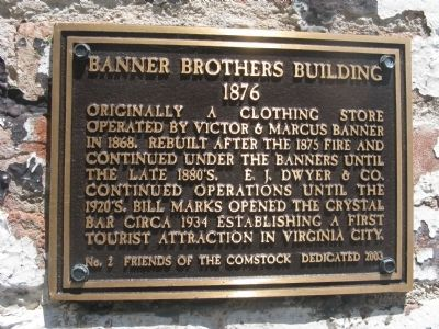Banner Brothers Building Marker image. Click for full size.