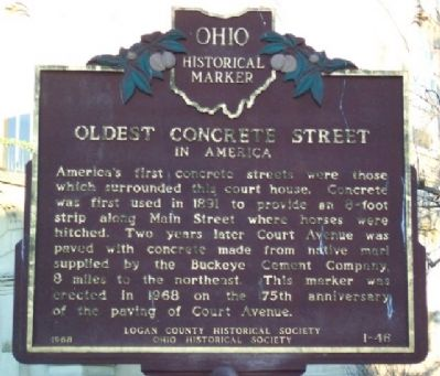 Oldest Concrete Street in America Marker image. Click for full size.