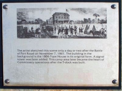 """Robbers Row"" Port Royal Interpretive Marker image. Click for full size."