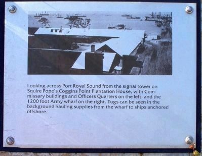 """Robbers Row"" Wharf, Port Royal Interpretive Marker image. Click for full size."