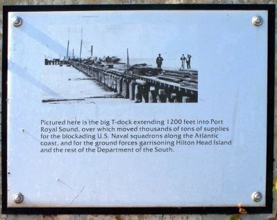 """Robbers Row"" T-dock Port Royal Interpretive Marker image. Click for full size."