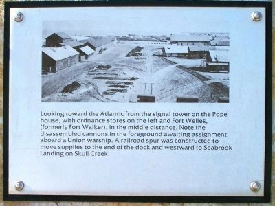 """Robbers Row"" Ordnance stores, Port Royal Interpretive Marker image. Click for full size."