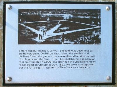 """Robbers Row"" Baseball, Port Royal Interpretive Marker image. Click for full size."