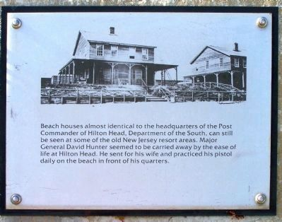 """Robbers Row"" Beach House, Port Royal Interpretive Marker image. Click for full size."