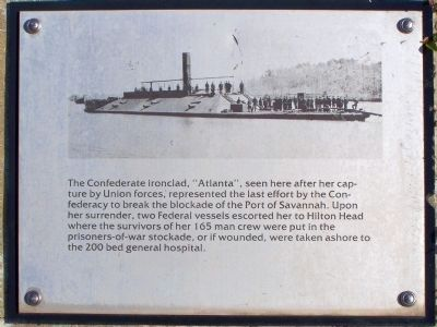 """Robbers Row"" Ironclad ""Atlanta"" Port Royal Interpretive Marker image. Click for full size."