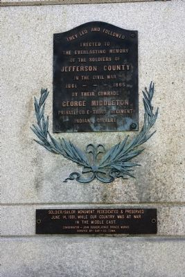 Full View - - Civil War Memorial Marker & Rededication Plaque image. Click for full size.