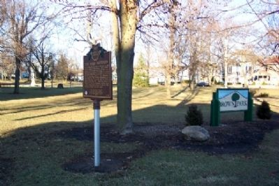 The Mills Brothers Marker in Brown Park image. Click for full size.