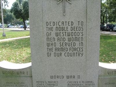 Westwood Veterans Monument image. Click for full size.