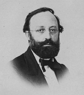 Gottfried Keller at age 40 (born Zurich, July 19, 1819 – died Zurich July 15, 1890) image. Click for full size.