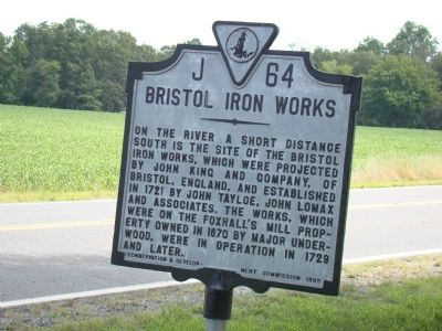 Bristol Iron Works Marker image. Click for full size.