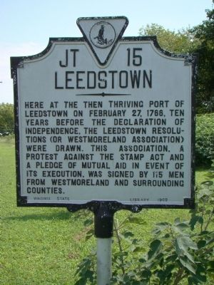 Leedstown Marker image. Click for full size.