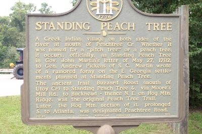 Standing Peach Tree Marker image. Click for full size.