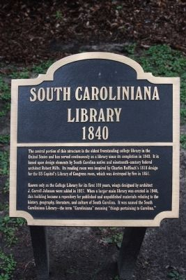 The South Caroliniana Library Marker image. Click for full size.