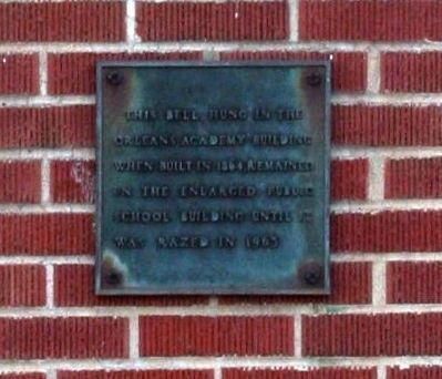 Orleans School Bell Marker image. Click for full size.
