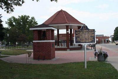 Orleans School Bell & Gazebo image. Click for full size.