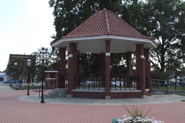 "Orleans ""Gazebo"" and the ""School Bell"" image. Click for full size."