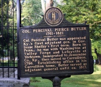 Marker Front - Col. Percival Pierce Butler Marker Photo, Click for full size
