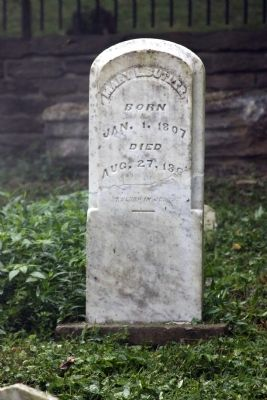 Grave Stone - - Mary L. Butler image. Click for full size.