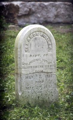 Grave Stone - - Eleanor Butler (Daughter) image. Click for full size.