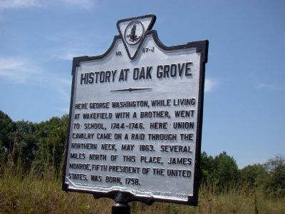 History at Oak Grove Marker image. Click for full size.