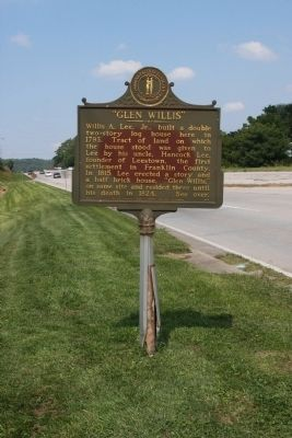 Long View Side A - - Glen Willis Marker image. Click for full size.