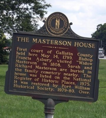 Side B - - The Masterson House Marker image. Click for full size.