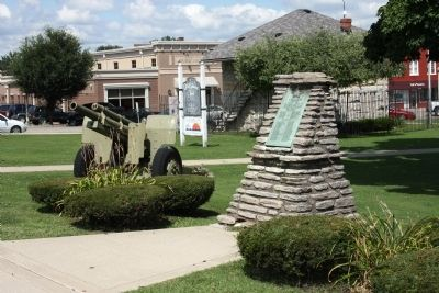 Another War Memorial on Courthouse Lawn Photo, Click for full size