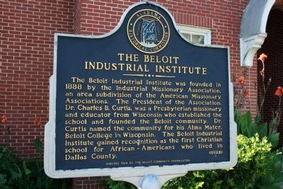 The Beloit Industrial Institute Marker image. Click for full size.