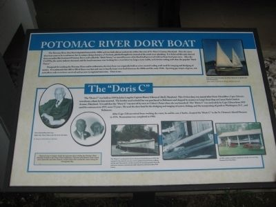 Potomac River Dory Boat Marker Photo, Click for full size
