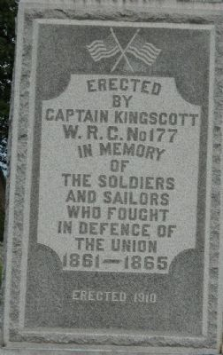 Maple Hill Cemetery Civil War Memorial Marker image. Click for full size.