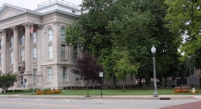 Dearborn County Courthouse and East Lawn image. Click for full size.